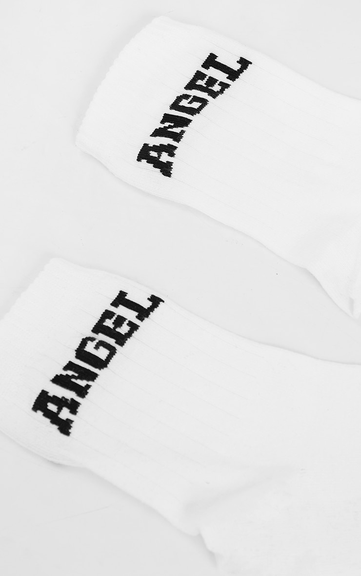Angel College Print Ankle Socks 4