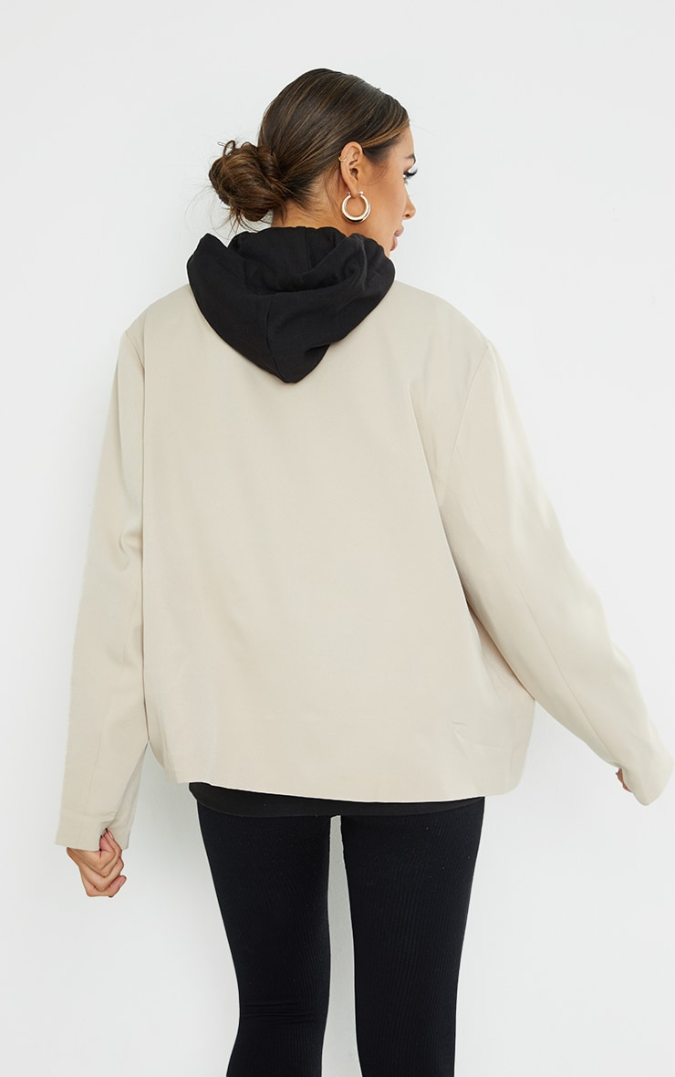 PRETTYLITTLETHING Maternity Stone ARCHIVE Oversized Double Breasted Blazer 2