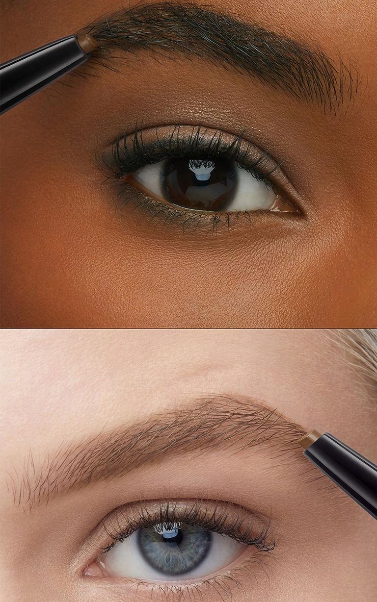 Maybelline Brow Satin Filling Pencil Pen + Filling Powder Duo Dark Brown 4