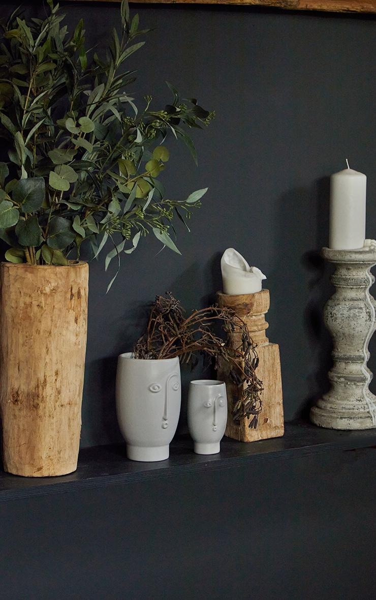 Grey Mini Face Vase 2