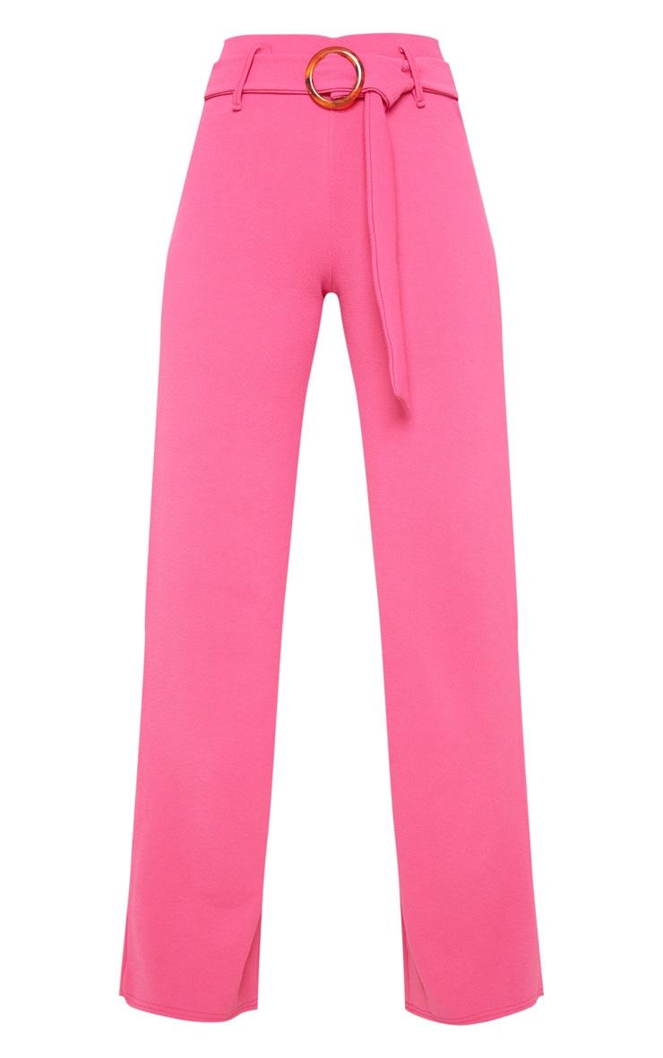 Tall Hot Pink  Tortoise Ring Wide Leg Trouser 3