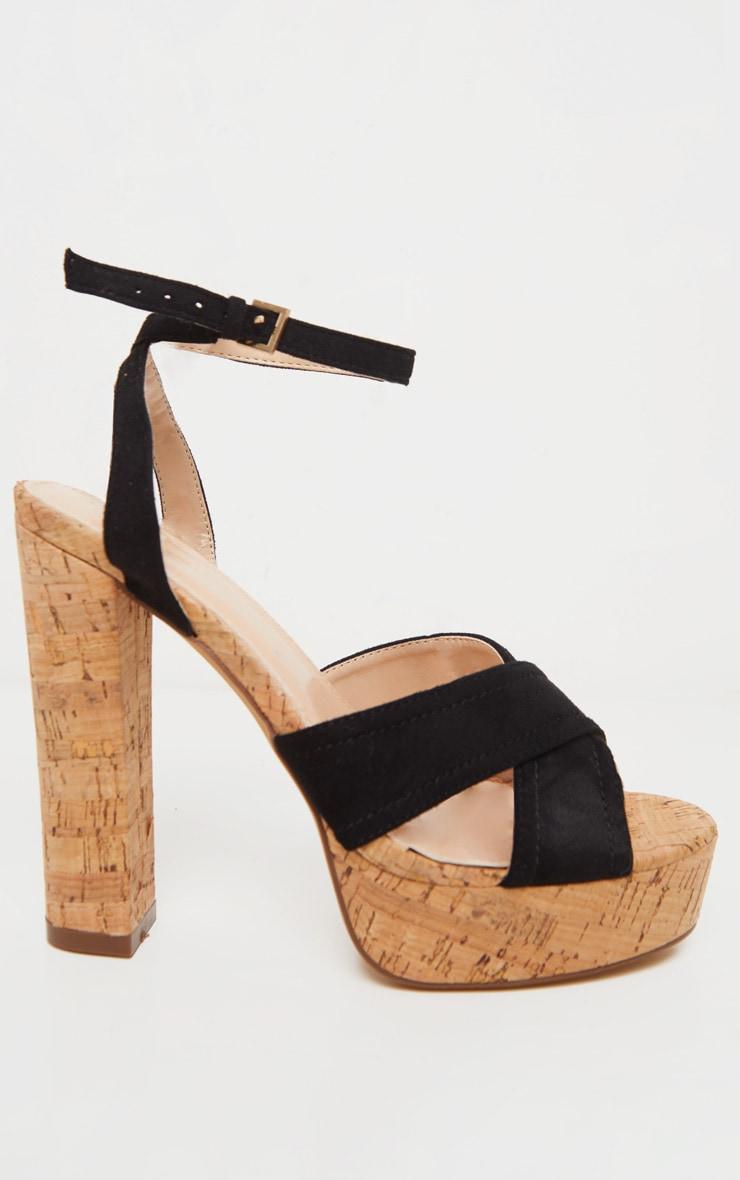 Black Cork High Platform Sandal 3
