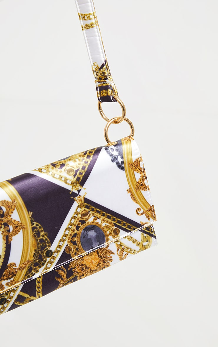 Black Renaissance Print Shoulder Bag 3