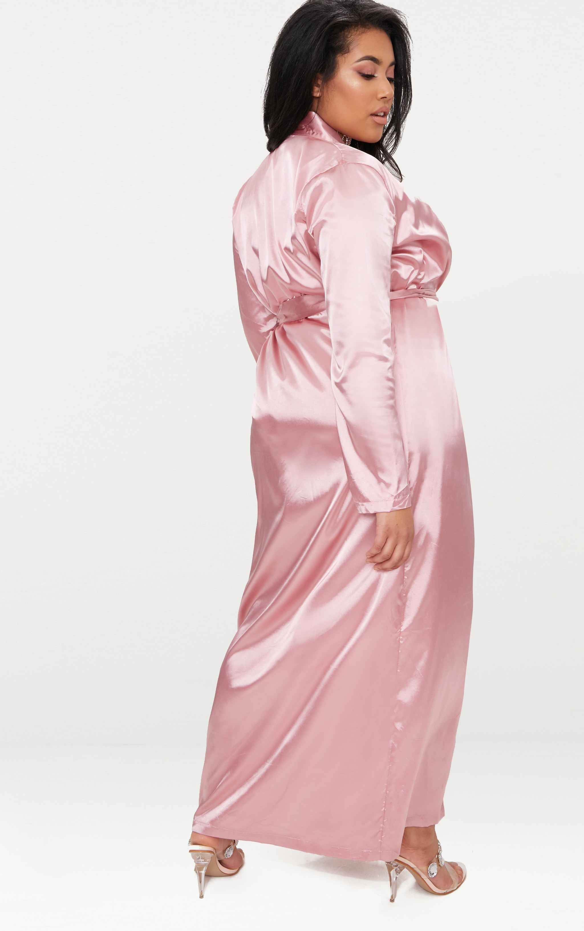 Plus Pink Satin Duster Jacket 3