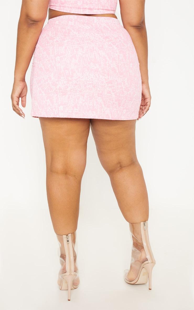 Plus Pastel Pink Boucle Skirt 5