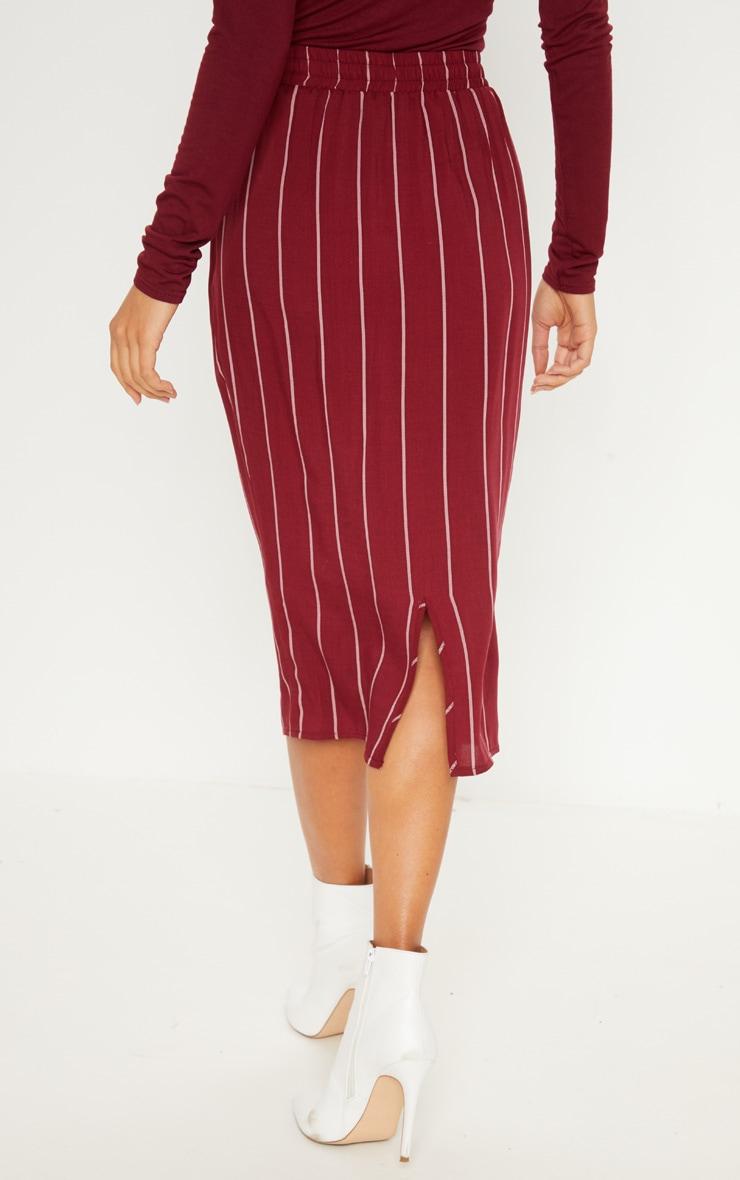 Maroon Casual Midi Skirt 4