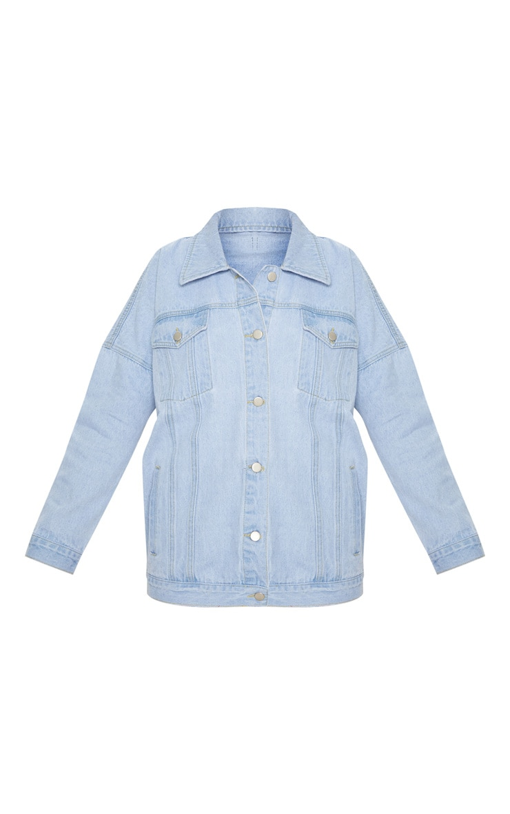 Light Wash Oversized Denim Jacket  3