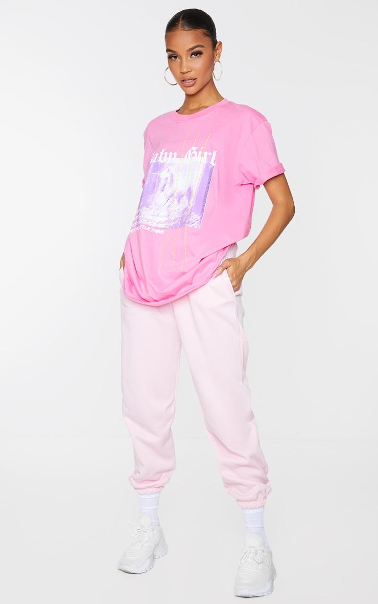 PRETTYLITTLETHING Fuchsia Printed Baby Girl T Shirt 3