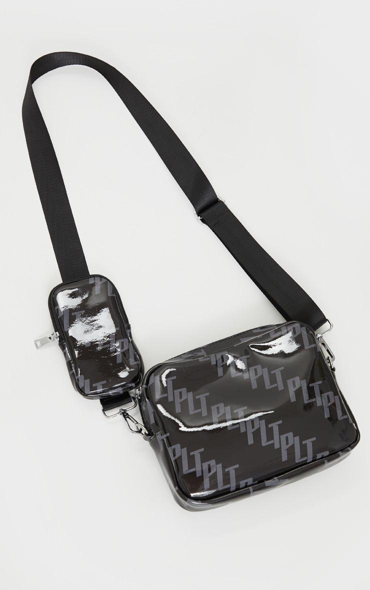PRETTYLITTLETHING Black Multi Pocket Cross Body Bag 2