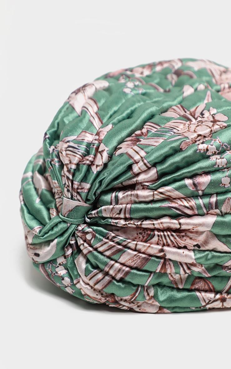 Green Floral Turban 5