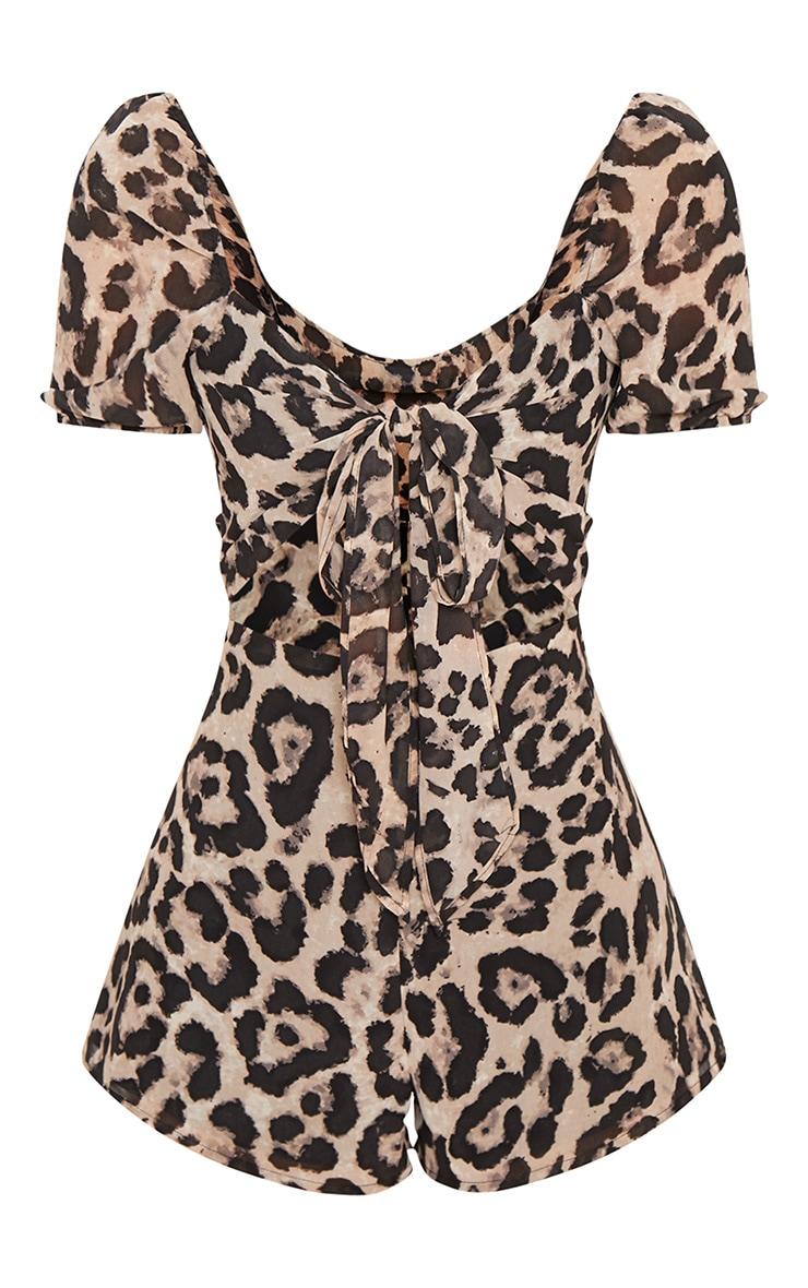 Leopard Tie Front Playsuit 4