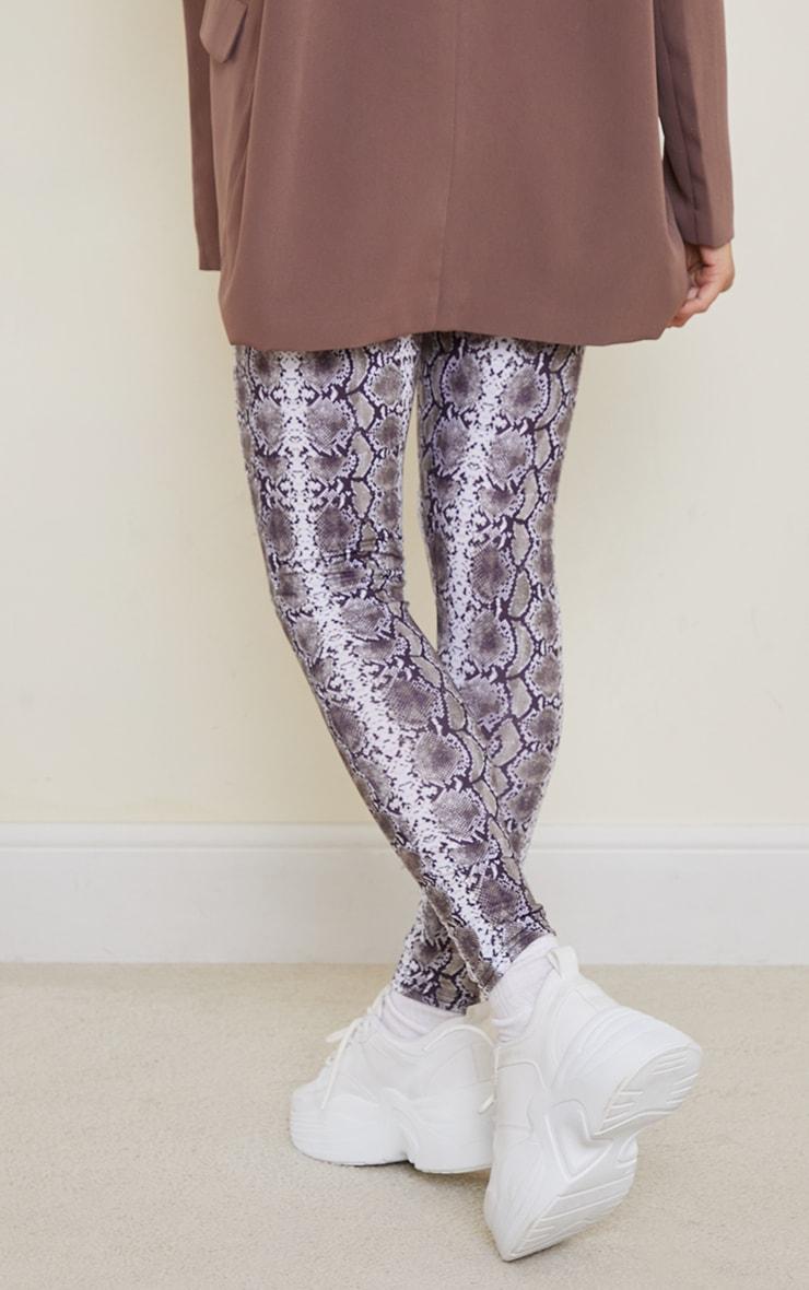 Maternity Grey Snake Print Jersey Leggings 3