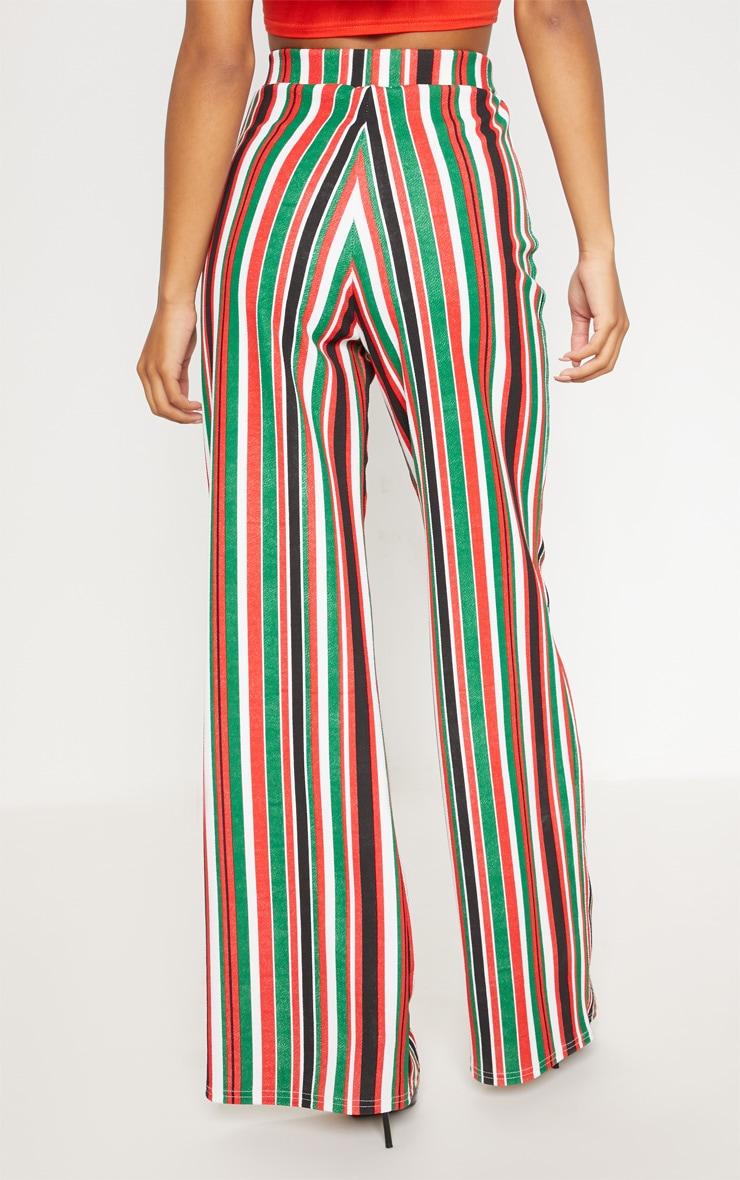 Multi Tie Waist Stripe Wide Leg Trouser 4