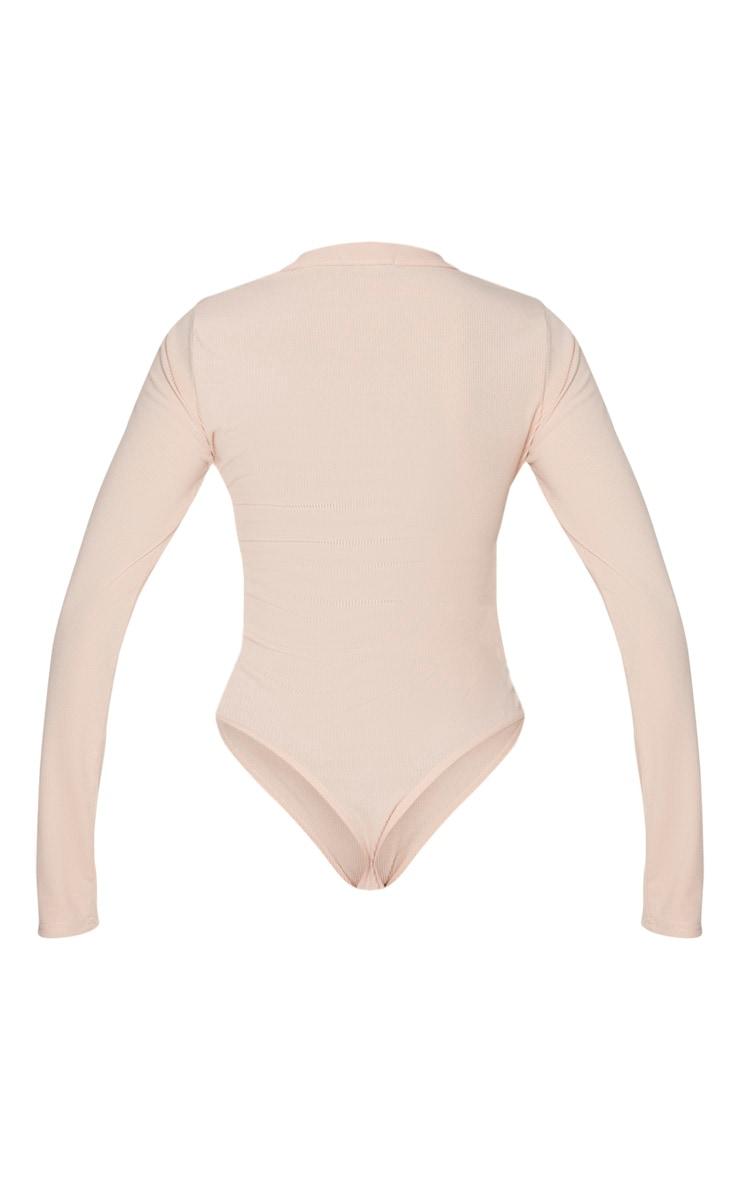 Blush Long Sleeve Button Detail Bodysuit 7