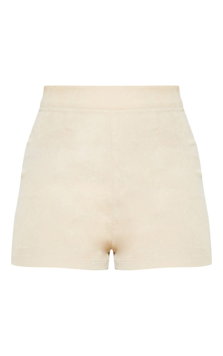 Stone Cord High Waisted Shorts 3