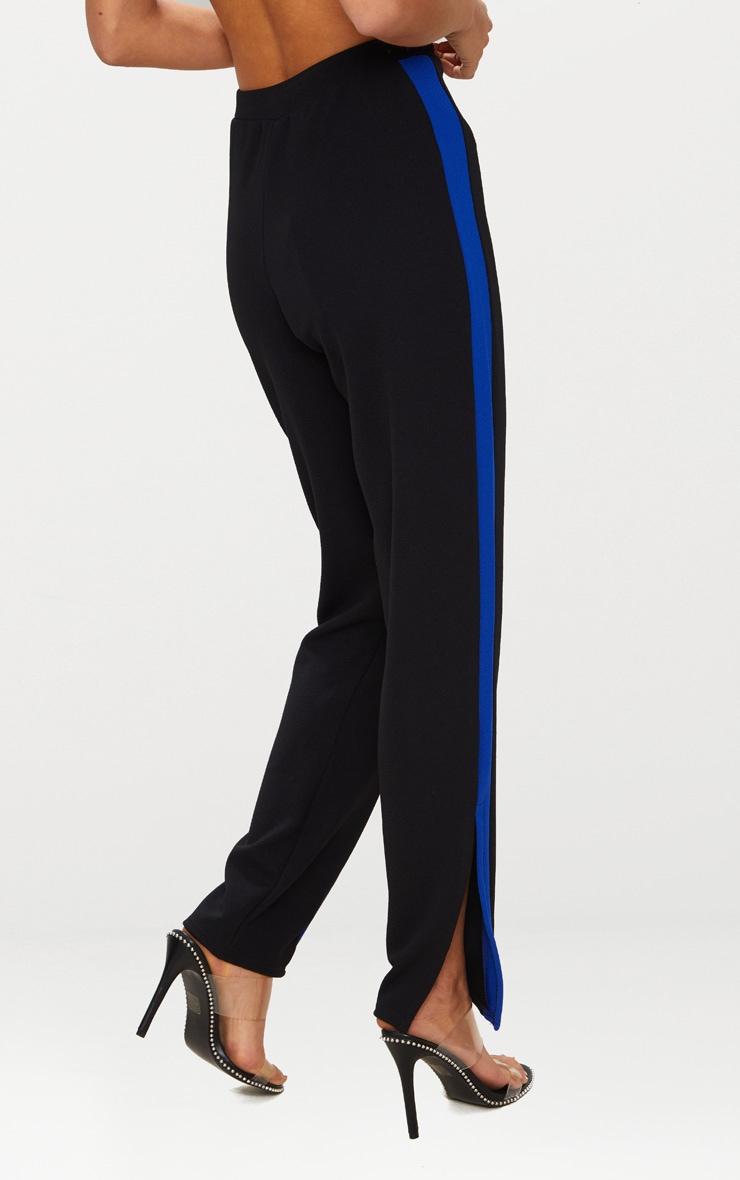 Blue Contrast Side Tape Straight Leg Trouser 4