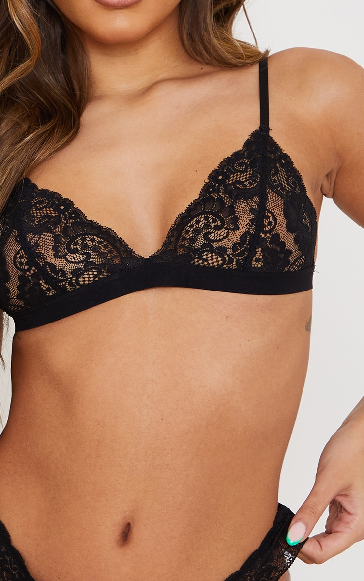 Black Basic Lace Bra 3 Pack 4