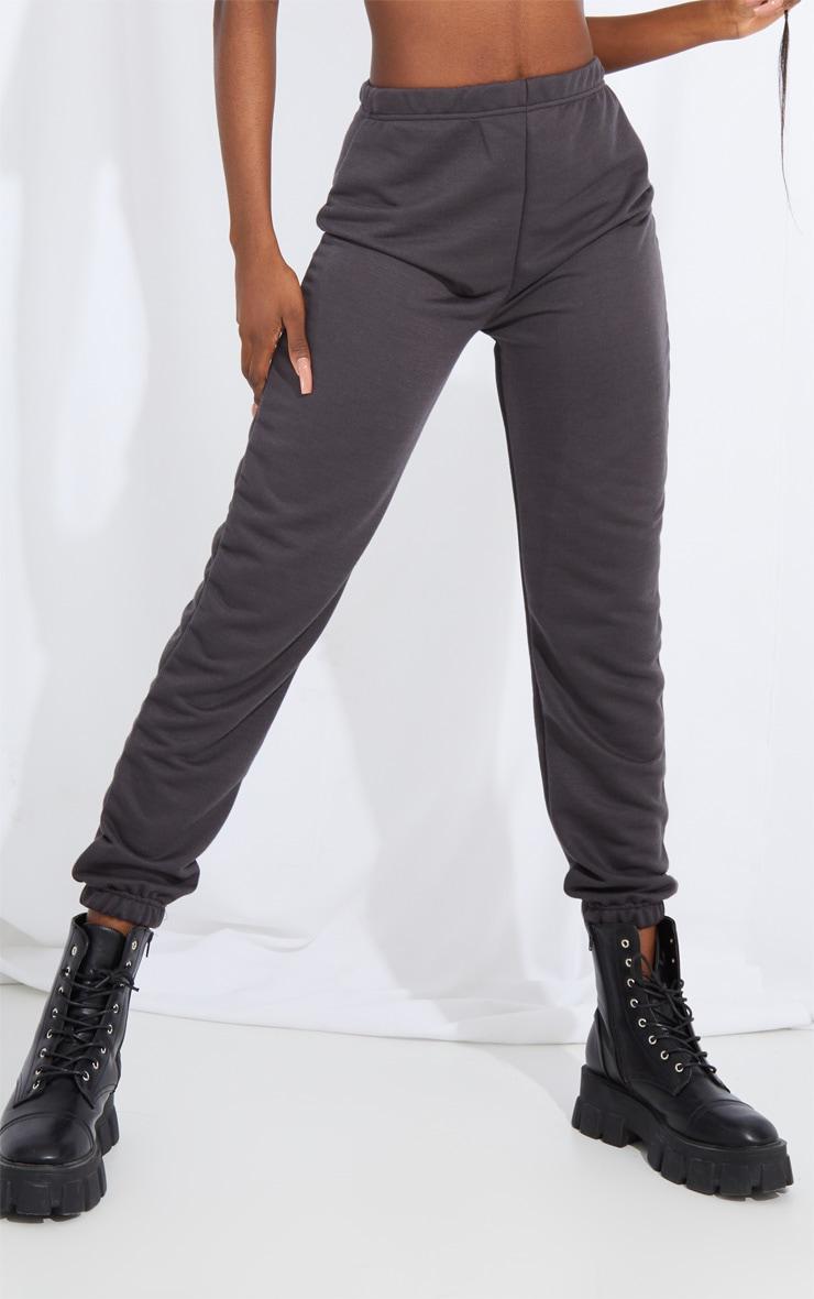 Tall Charcoal Basic Cuffed Hem Joggers 2