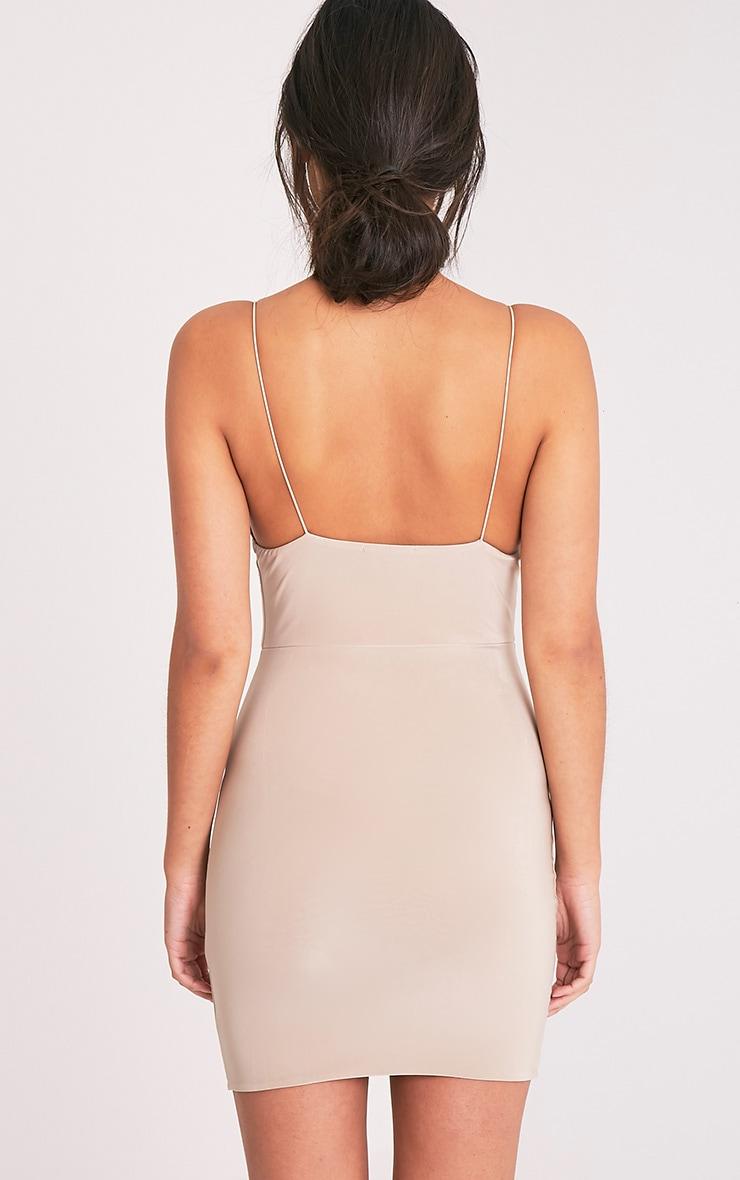 Ayishah Stone Slinky Strappy Plunge Bodycon Dress 2