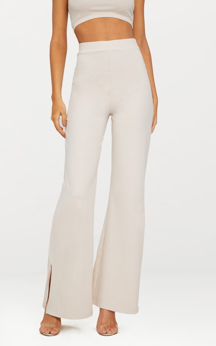 Cream Second Skin Flared Trousers 2