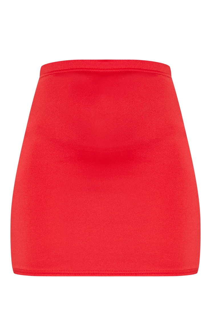Milah Red Scuba Mini Skirt 3