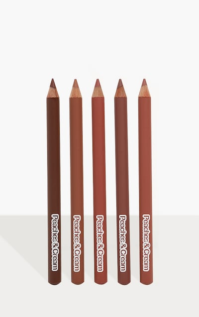 Peaches & Cream Hold The Line 5 Pack Lip Liners