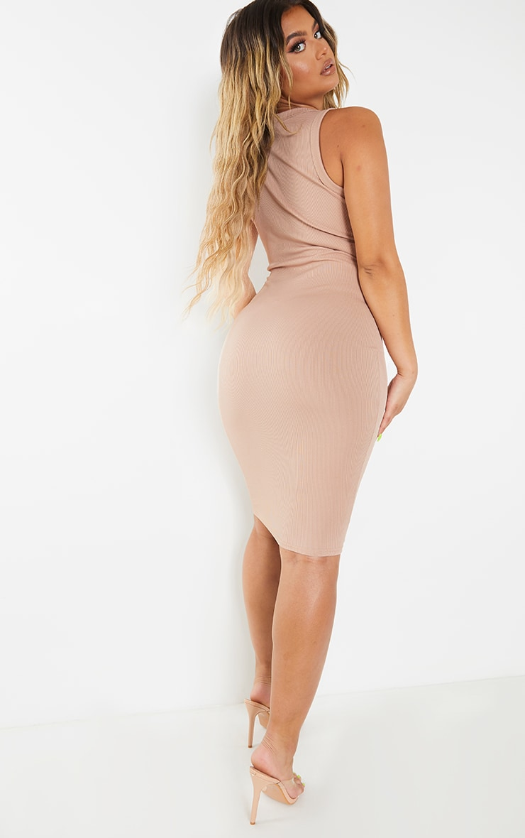 Stone Rib Scoop Neck Sleeveless Midi Dress 2