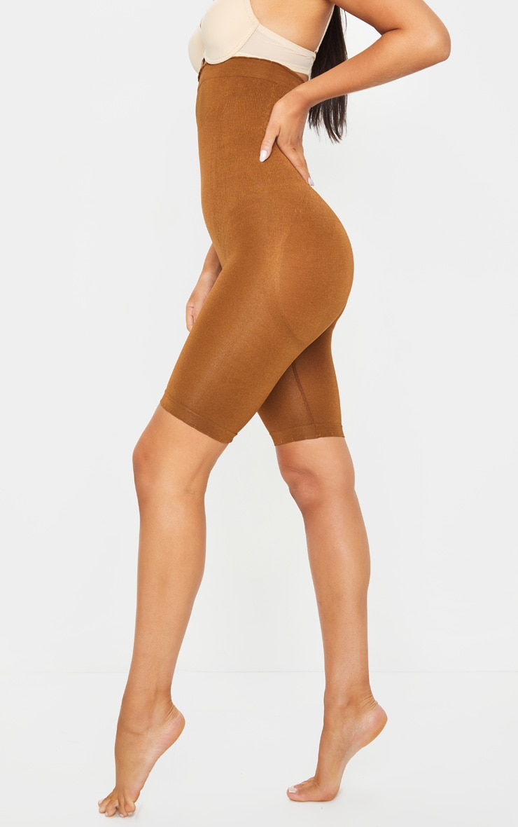 Brown Bum Lift Shapewear High Waisted Short 3