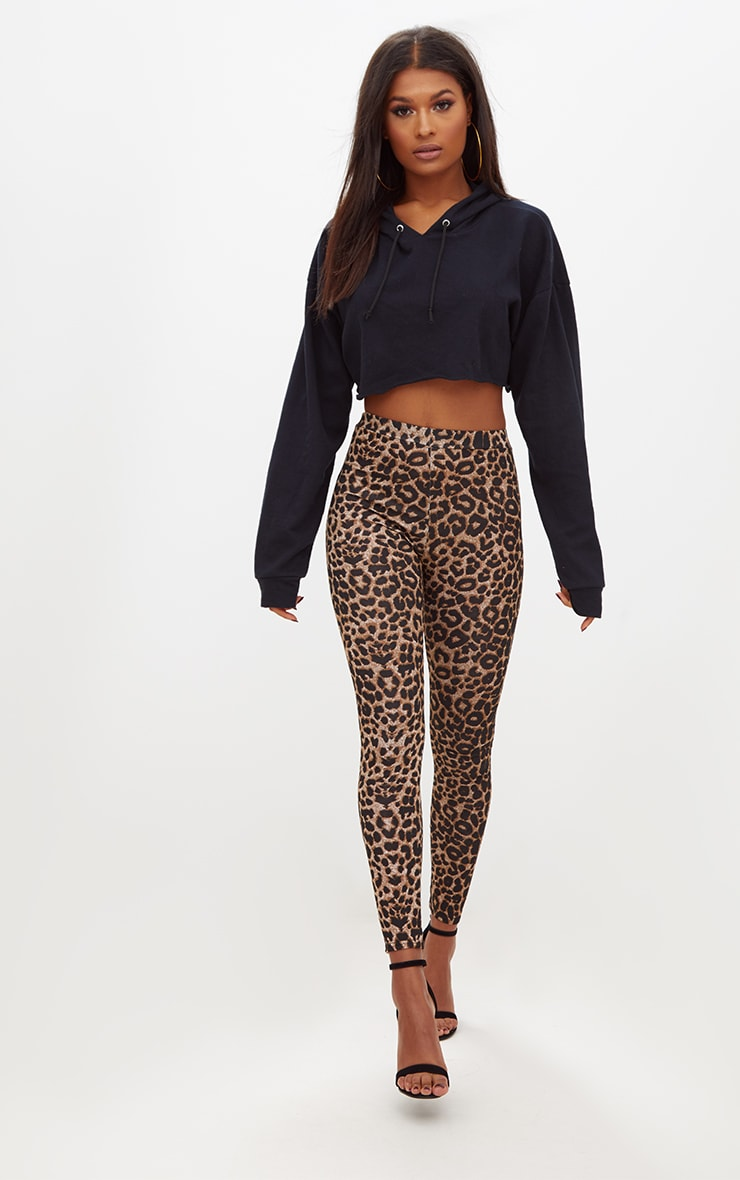 Brown Leopard Print Leggings