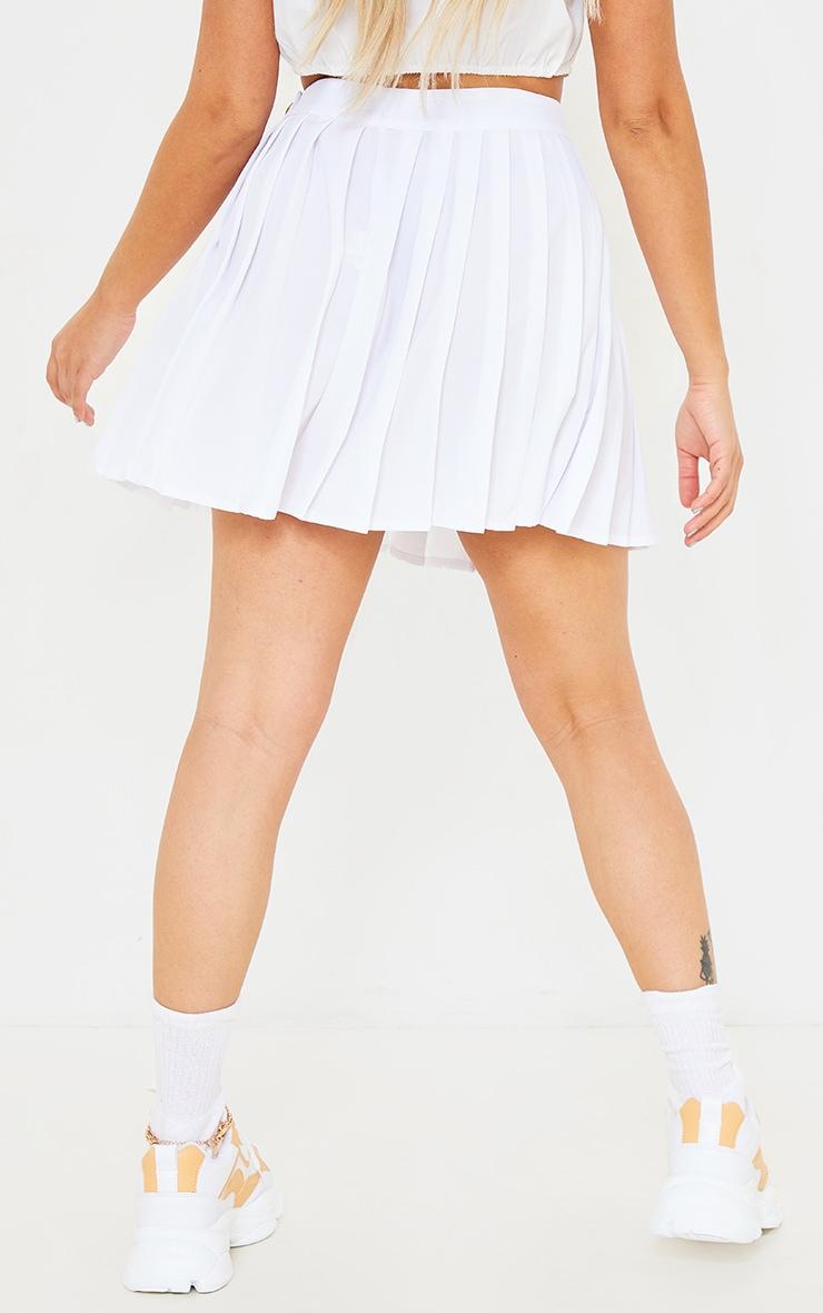 Petite White Button Detail Tennis Skirt 3