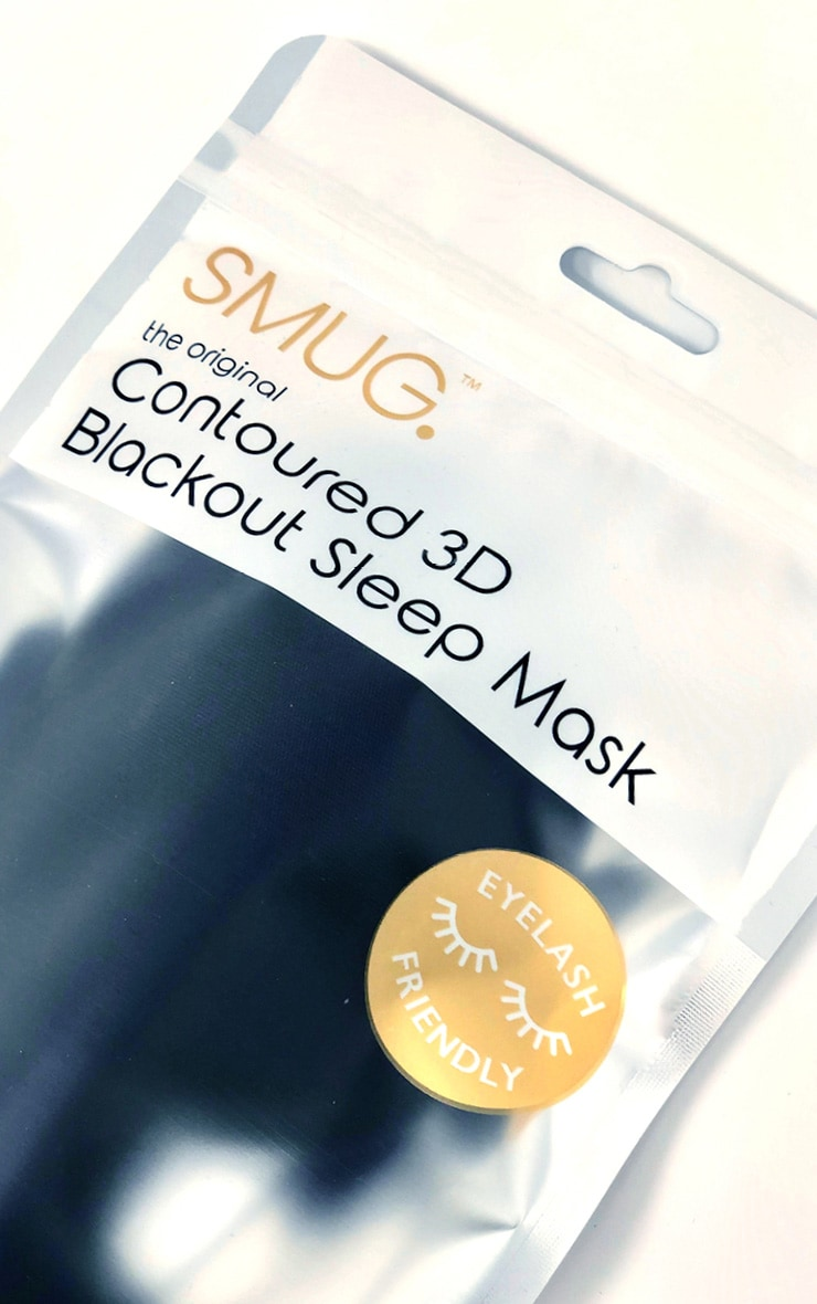 Smug Eyelash Friendly Sleep Mask Black 3