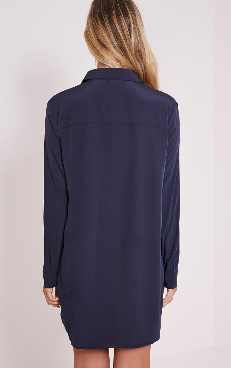 Effy Navy Shirt Dress 2