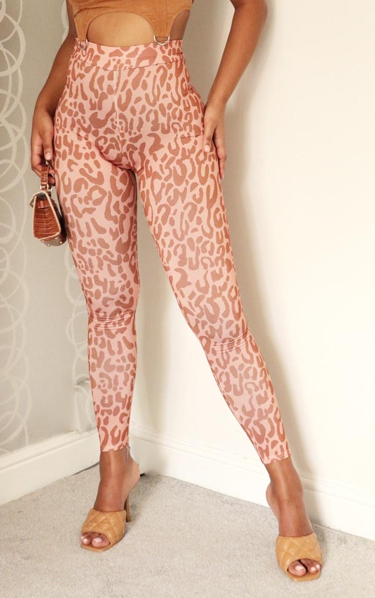 Nude Leopard Print Tonal Leggings 2
