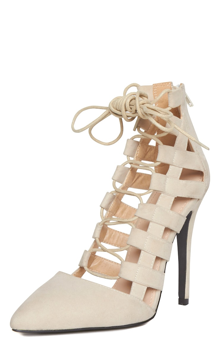 Amaris Nude Pointed Strappy Heels 4