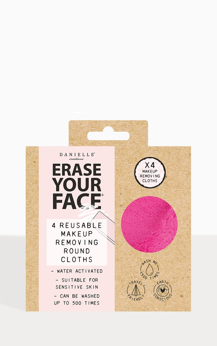 Erase Your Face Eco Circular Makeup Removing Pads 4 Pack Bright 1