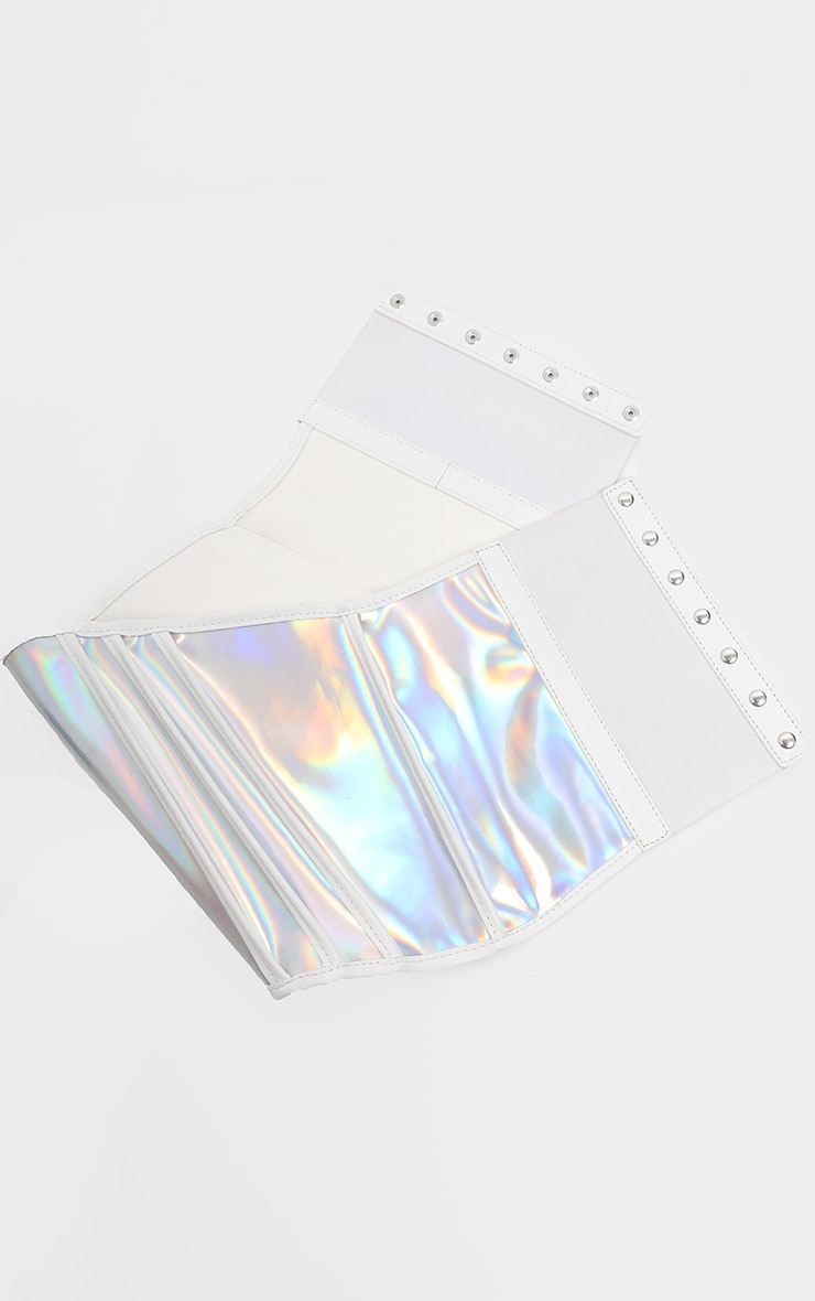 Silver Holographic Corset Belt  3