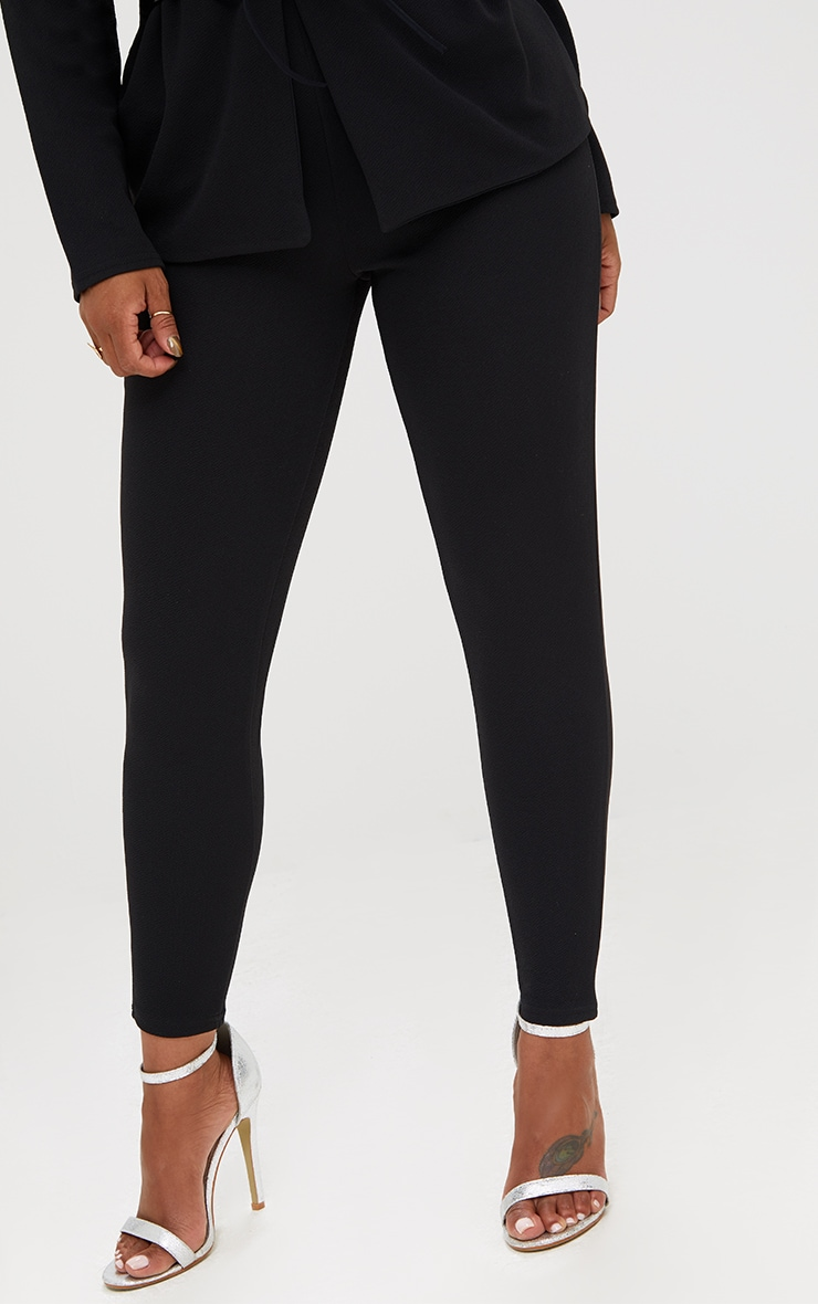 Shape Black Fitted Trousers 5