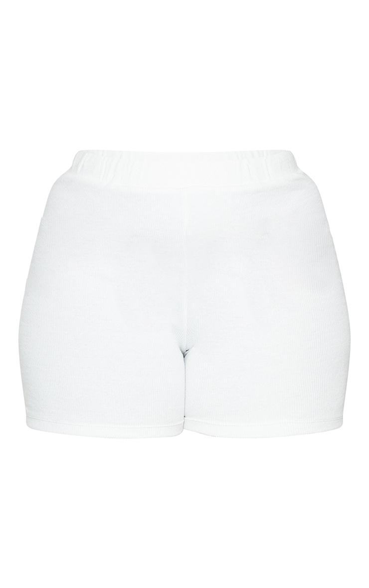 Plus Cream Thick Rib Bike Shorts 6