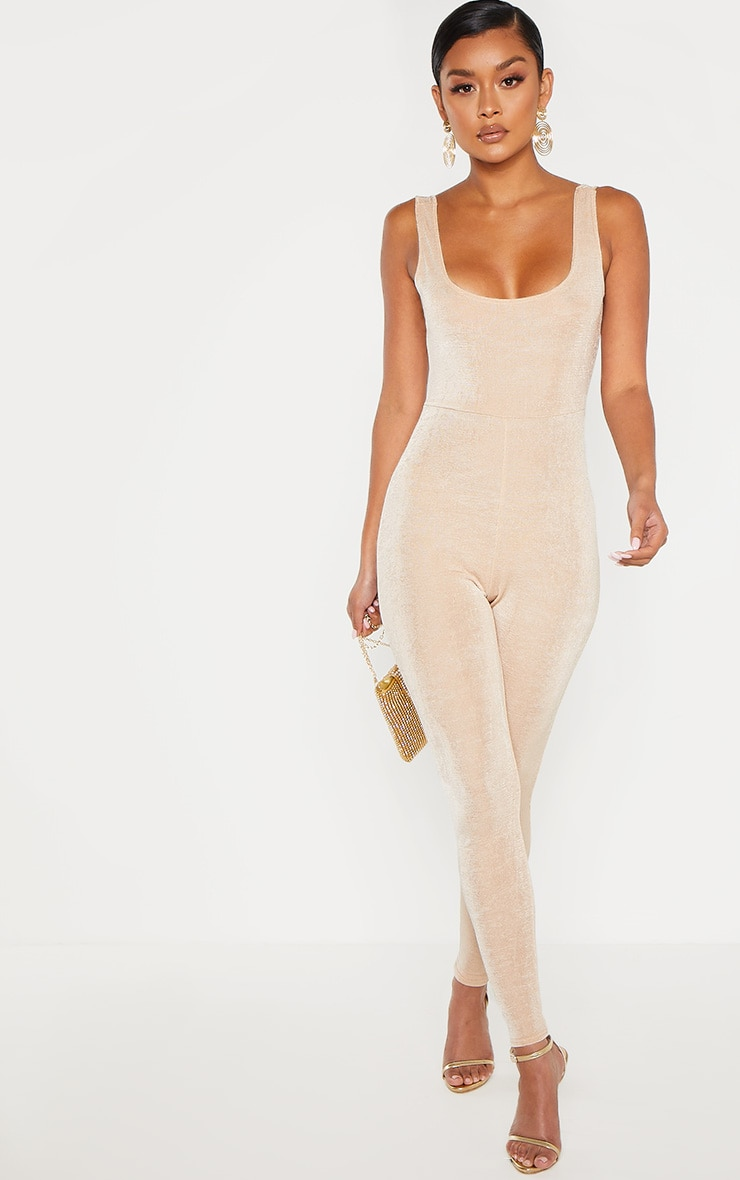 Stone Slinky Ruched Back Jumpsuit 4