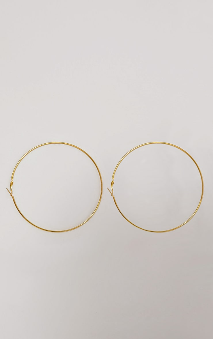 Gold Large Hoop Earrings 3