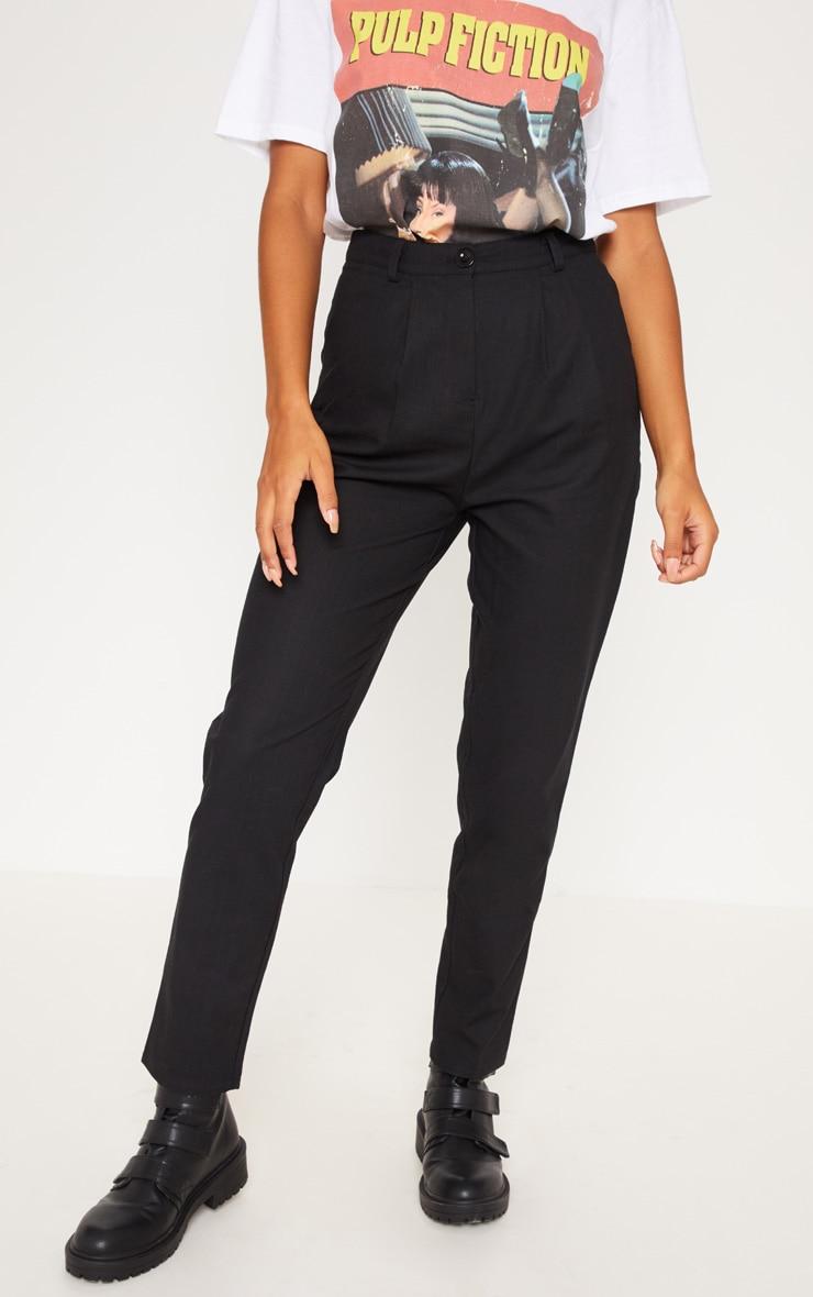 Black Pleat Front Cigarette Trouser 2