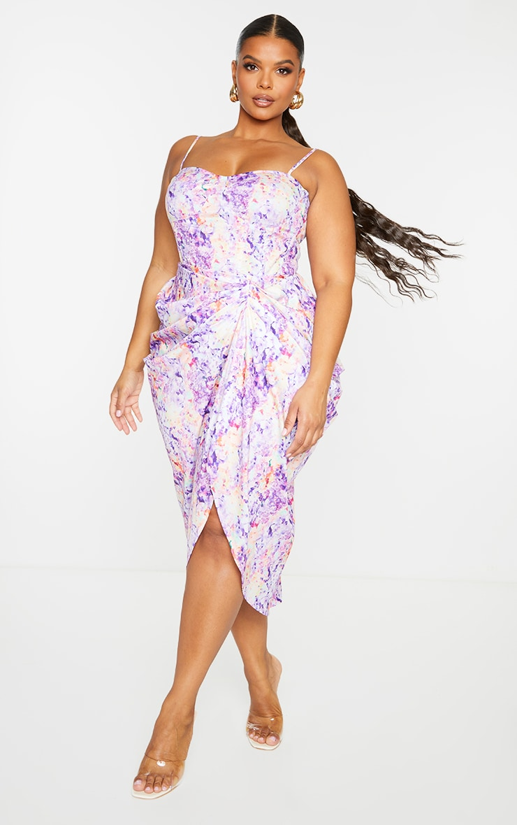Plus Lilac Structured Corset Top 3