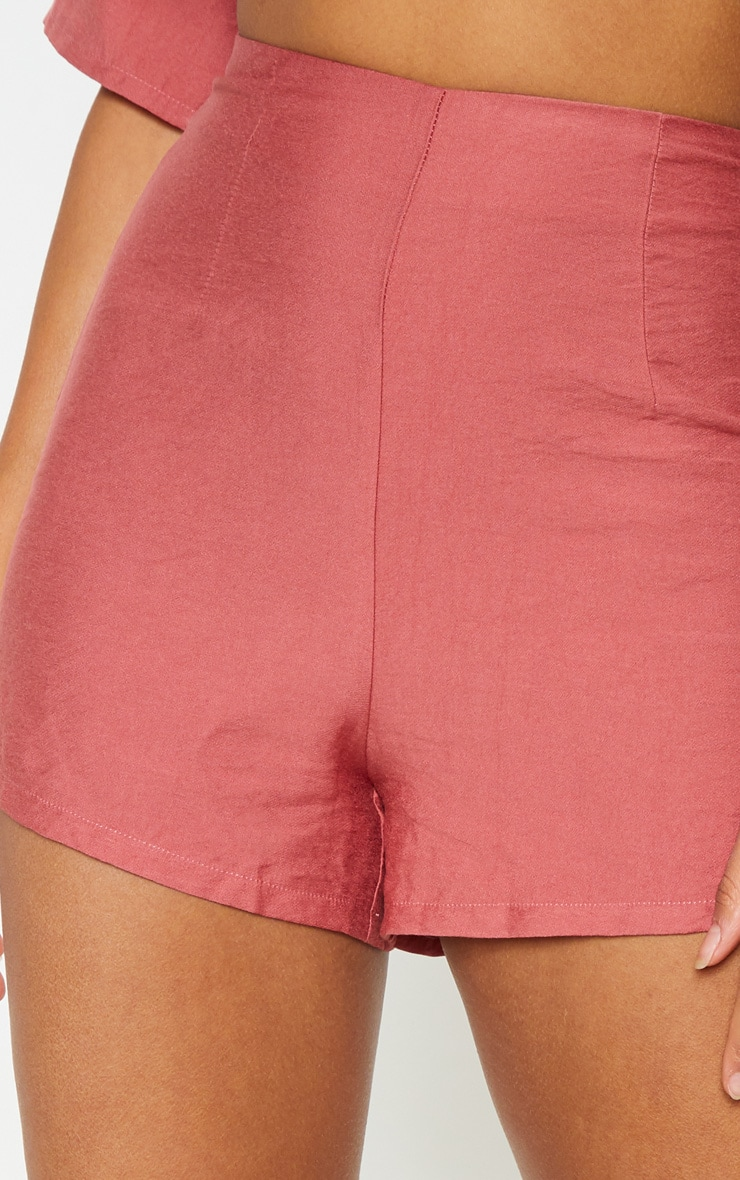 Rose High Waisted Shorts 6