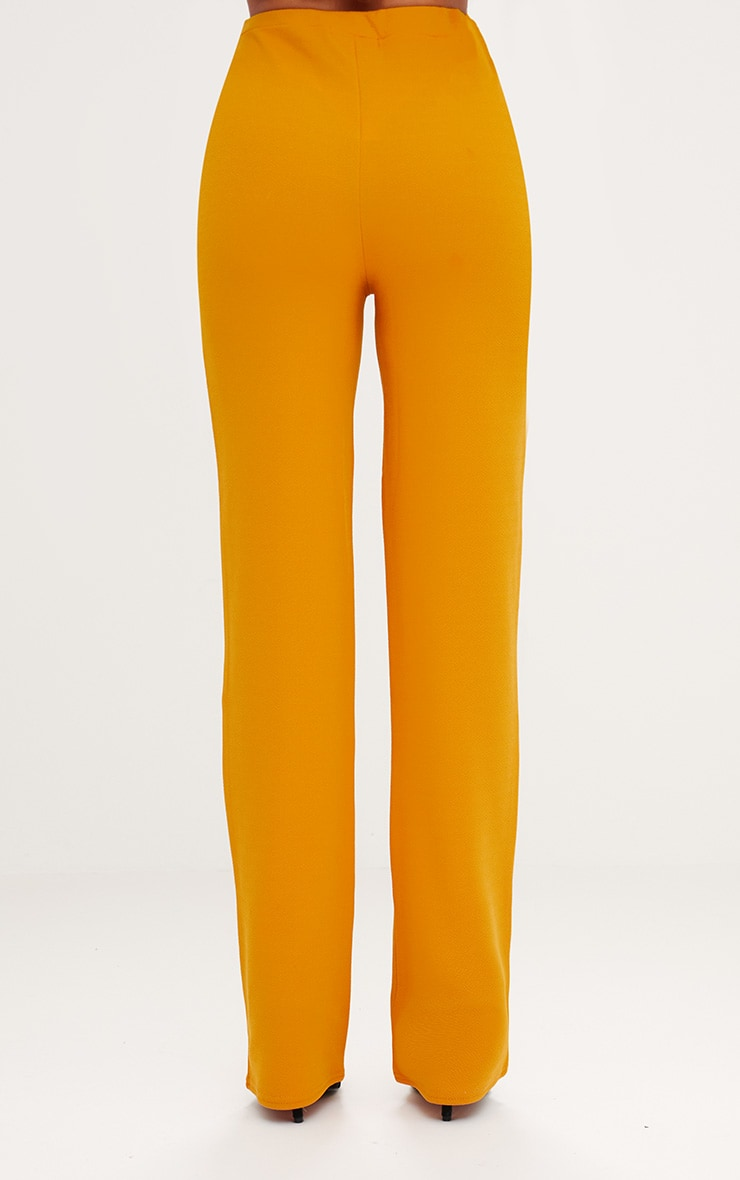Mustard Straight Leg Suit Trousers 4