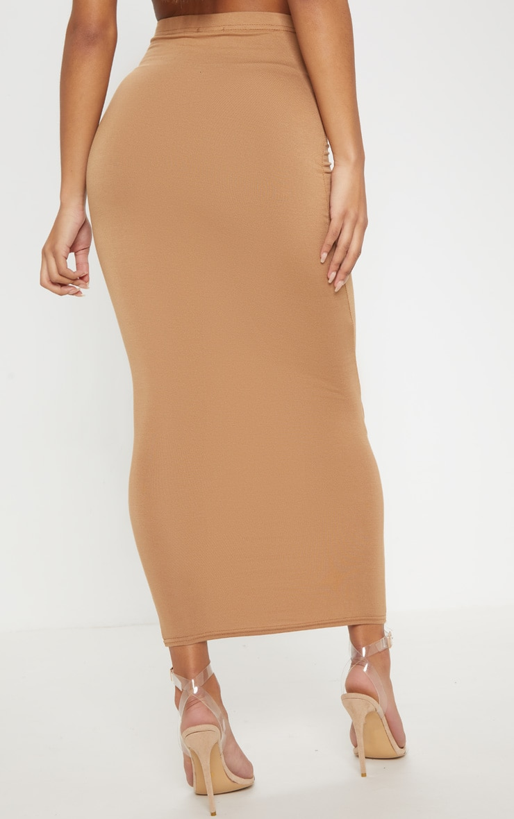 Chocolate, Black, Camel Basic Jersey Midaxi Skirt 3 Pack 9
