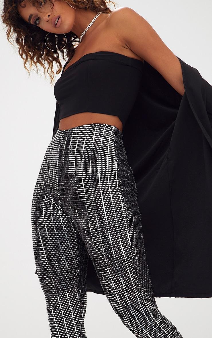 Black Disco Sequin Skinny Trousers 4
