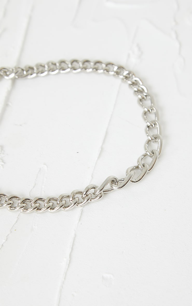Silver Assorted Curb Chain Necklace 4