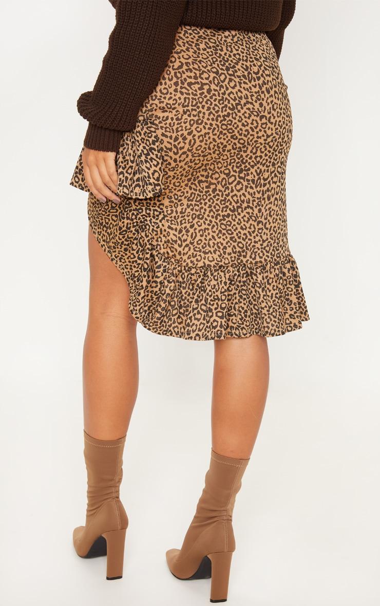 Leopard Print Frill Midi Skirt 4