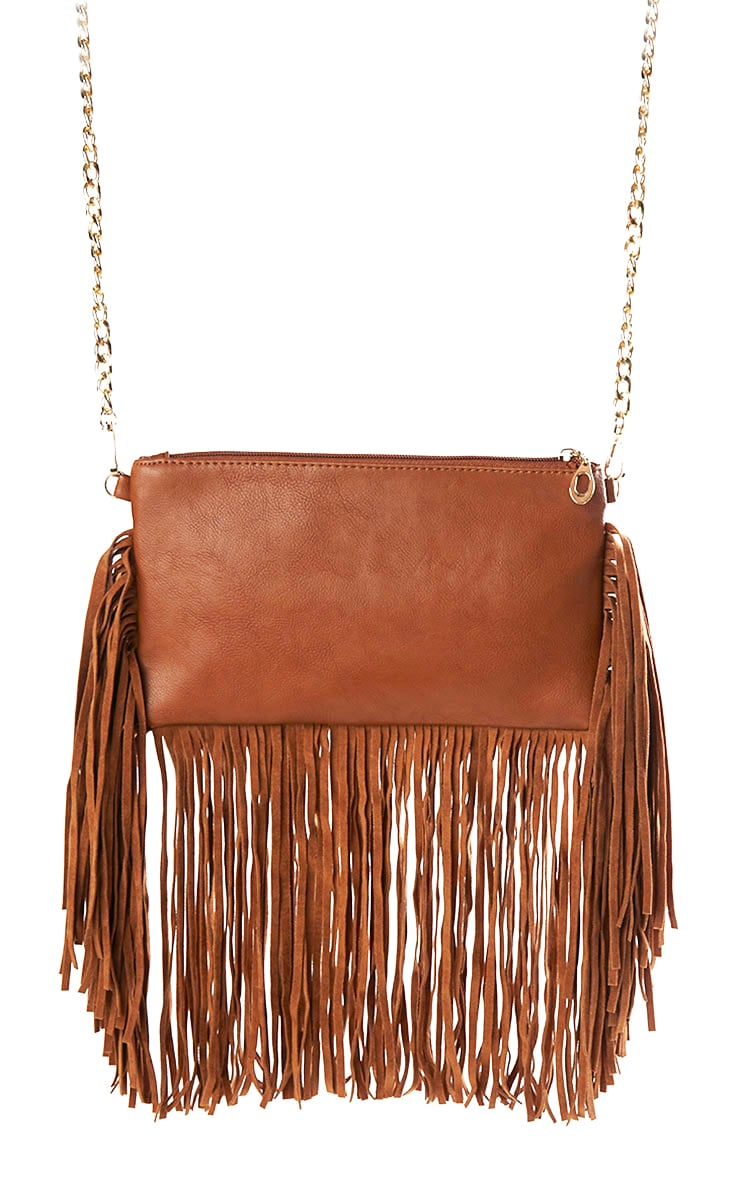 Catrine Tan Fringe Trim Bag 3