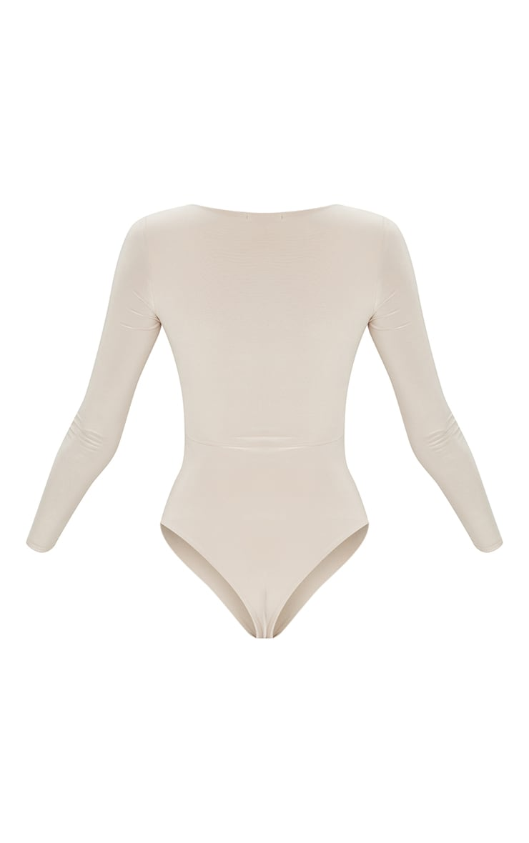Stone Second Skin Long Sleeve Thong Bodysuit 6